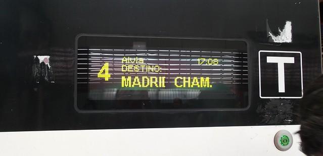 De trem de Bilbao a Madrid