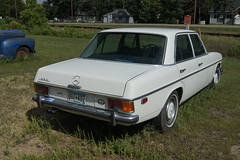 bmw(0.0), mercedes-benz w108(0.0), mercedes-benz w123(0.0), bmw new class(0.0), compact car(0.0), automobile(1.0), executive car(1.0), family car(1.0), vehicle(1.0), mercedes-benz w114(1.0), mercedes-benz(1.0), antique car(1.0), sedan(1.0), classic car(1.0), land vehicle(1.0), luxury vehicle(1.0),