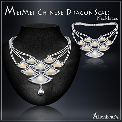 MeiMei Dragon Scale Pt Necklace Pale