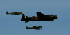 aviation, airplane, propeller driven aircraft, vehicle, fighter aircraft, avro lancaster, flight, air force, air show,