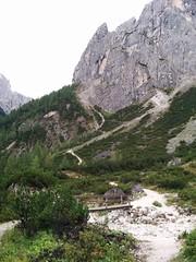 Holzbrücke Aufstieg Zsigmondyhütte