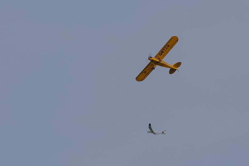 Alan's Piper Cub with a glider in the background.