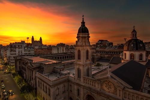 city travel sunset church argentina photography buenosaires cityscape ocaso balvanera