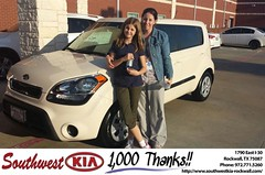 #HappyAnniversary to Katherine Klutts on your 2013 #Kia #Soul from Mauricio Pena at Southwest KIA Rockwall!