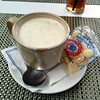 Last food consumed in Boston - clam chowder at Legal Sea Foods at Logan International