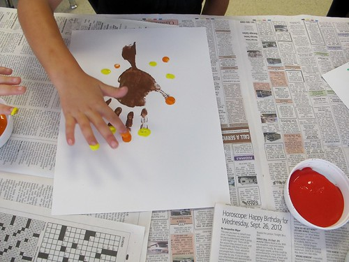 Fall Handprint Art for Kindergarten