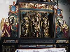 Retable,  cathédrale Notre-Dame du Glarier, Sion, canton du Valais, Suisse.