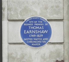 Photo of Thomas Earnshaw blue plaque