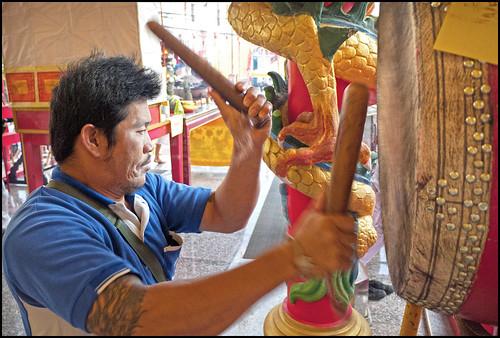 Beating the rhythm of the shrine