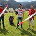 F5B Belgian Team in the ready box: Verschoren Willi,  Lefebvre Huges, helper