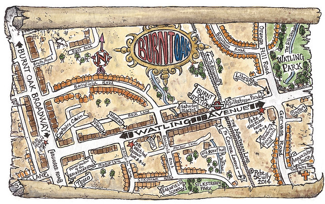 burnt oak map