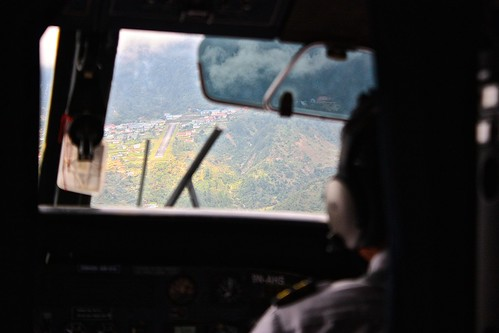Landing in Lukla Airport, Nepal, the most dangerous airport in the world