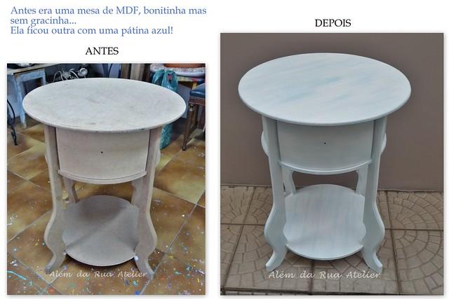 Mesa de MDF pintada à mão
