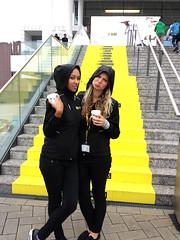 Poor ladies!, Nikon Germany get these ladies an umbrella! Photokina 2014