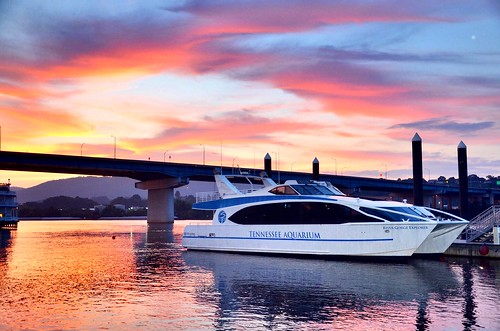 pink blue sunset red sky orange white yellow night clouds reflections lights evening boat twilight dock flickr ship glow tennessee gray northshore sparkling tennesseeriver dysk gloaming chattanoogatn tennesseeaquarium fourbridges rosslanding