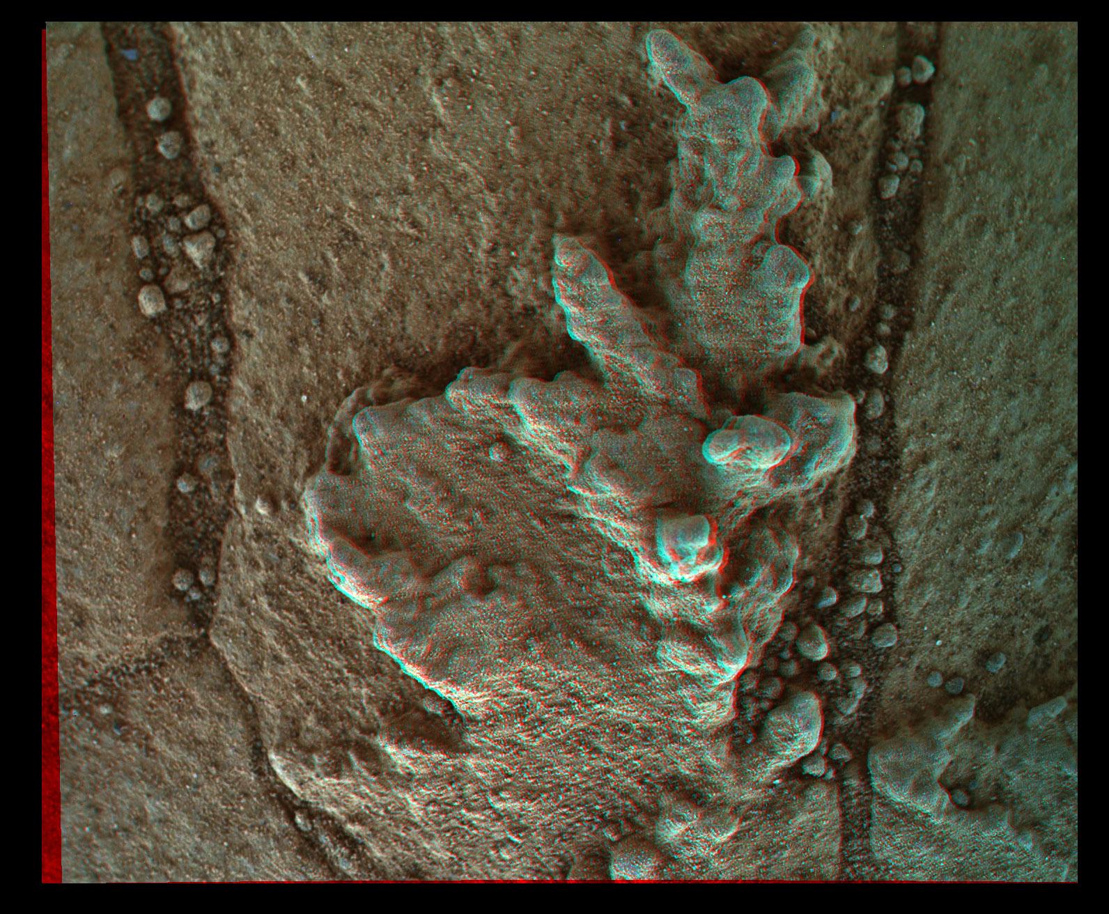 Curiosity MAHLI sol 758 anaglyph