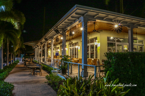 restaurant waterfront dining stuart florida usa outdoors outside colorful night nighttime lightssparkle starburst