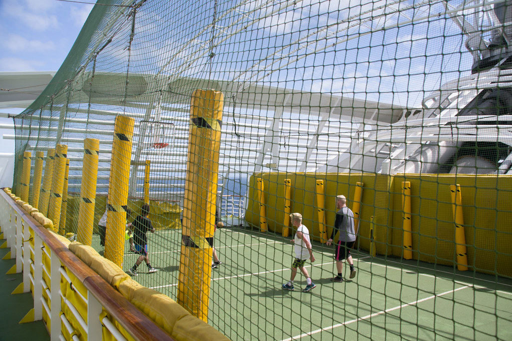 Basketball and soccer area on Ruby Princess.