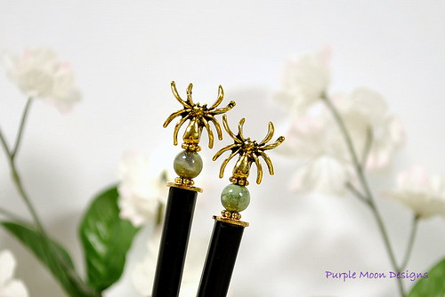 Handmade Hair Sticks by Purple Moon Designs