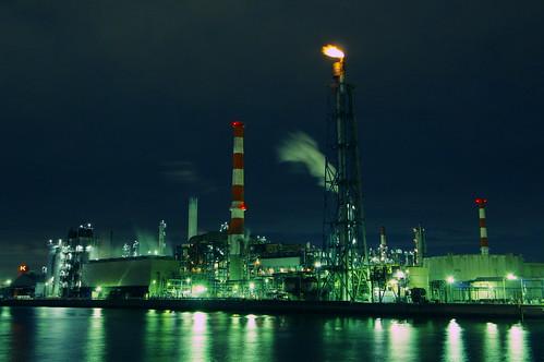 Nightscape at Kawasaki Industrial Zone 11
