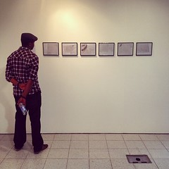 Family support - hubby dearest checking out my work. #uni #photography #project #colourfilm #colourprinting #education #mediumformat #focused #proudmoment @uniwestminster @uw_mad