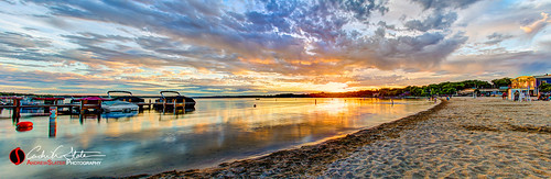 travel sunset orange lake beach water wisconsin clouds canon landscape pier boat dock sand place unitedstates things panoramic vehicles hdr pewaukee pewaukeelake pewaukeewi travelwisconsin 5dmarkiii capturewisconsin