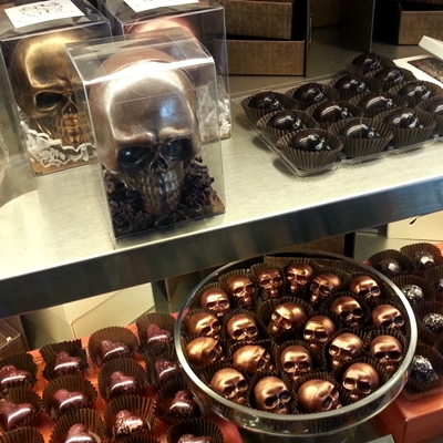Laura Slack skull chocolate