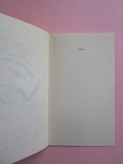 Fogli di via, di Tullio Pericoli. Einaudi 1976. Responsabilità grafica non indicata [Bruno Munari]. Pag. 69 e pag. dell'Indice (part.), 1