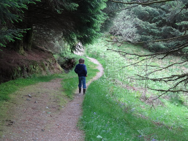 Walking near Loch Lommond