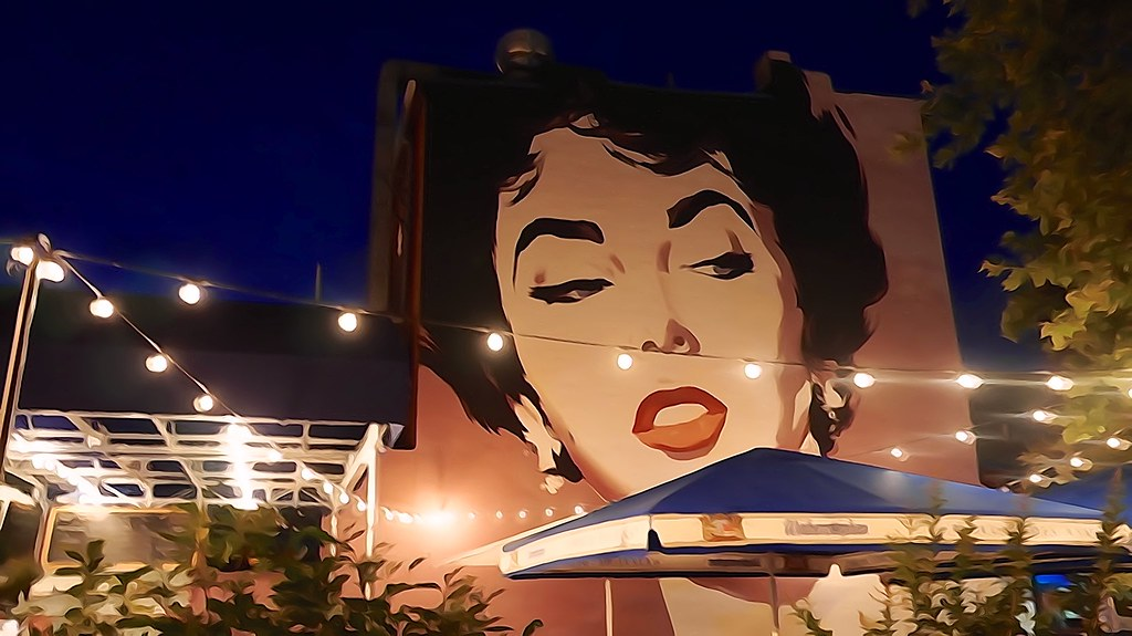 Photo Friday: Thank you Liz Taylor in Watercolor, Shaw Neighborhood, Washington, DC USA