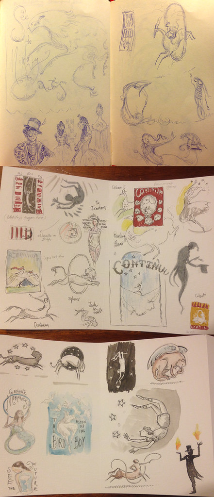 Sketches for Continuum X program cover