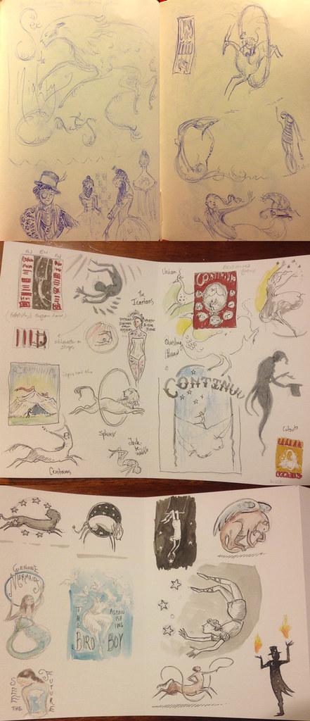 Sketches for Continuum X program cover