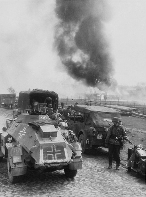 In the foreground is an  SdKfz. 221