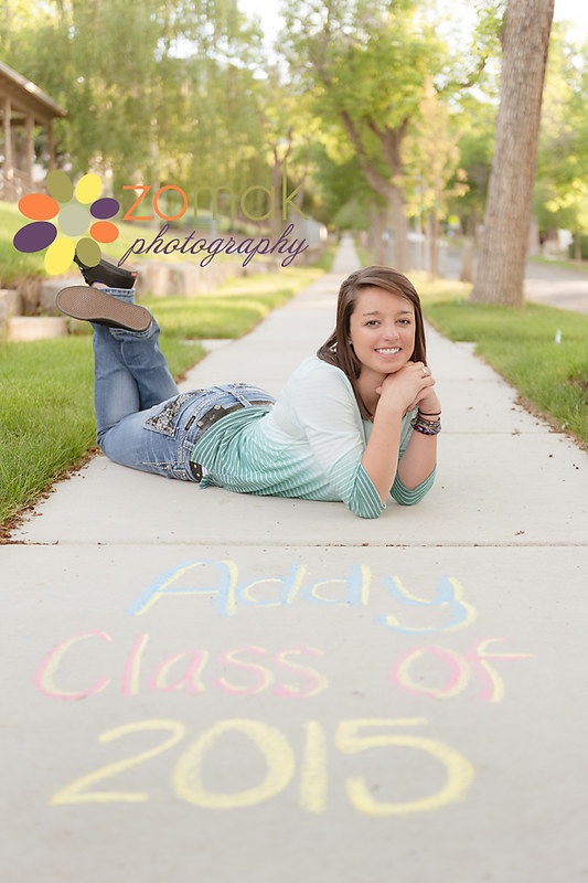 The writing's on the sidewalk:  Addy, class of 2015