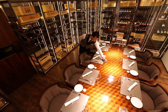 Gaia Ristorante's Wine Cellar & Private Dining Room
