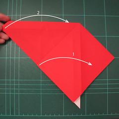 การพับกระดาษเป็นรูปสัตว์ประหลาดก็อตซิล่า (Origami Gozzila) 007