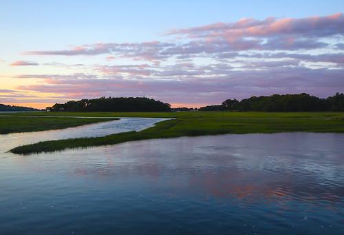 sunset sky reflection clouds ma massachusetts newengland ipswich ipswichriver chiarello rudychiarello