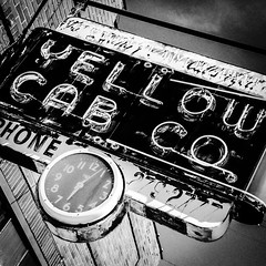 Yellow Cab Sign