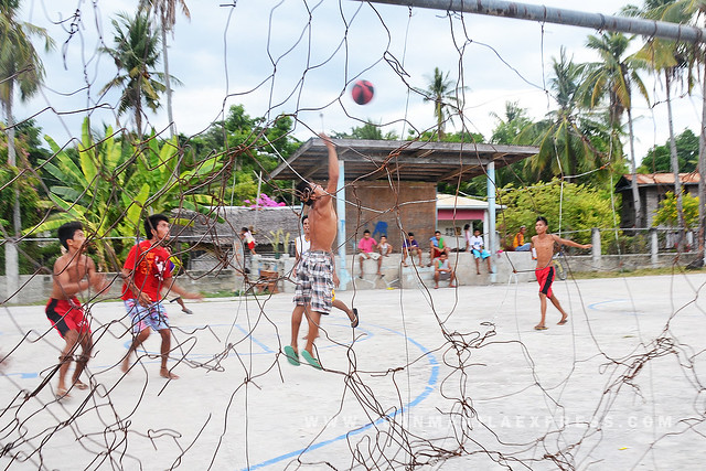 BALICASAG HOOPS! These young men works as local tourist guides during peak season.