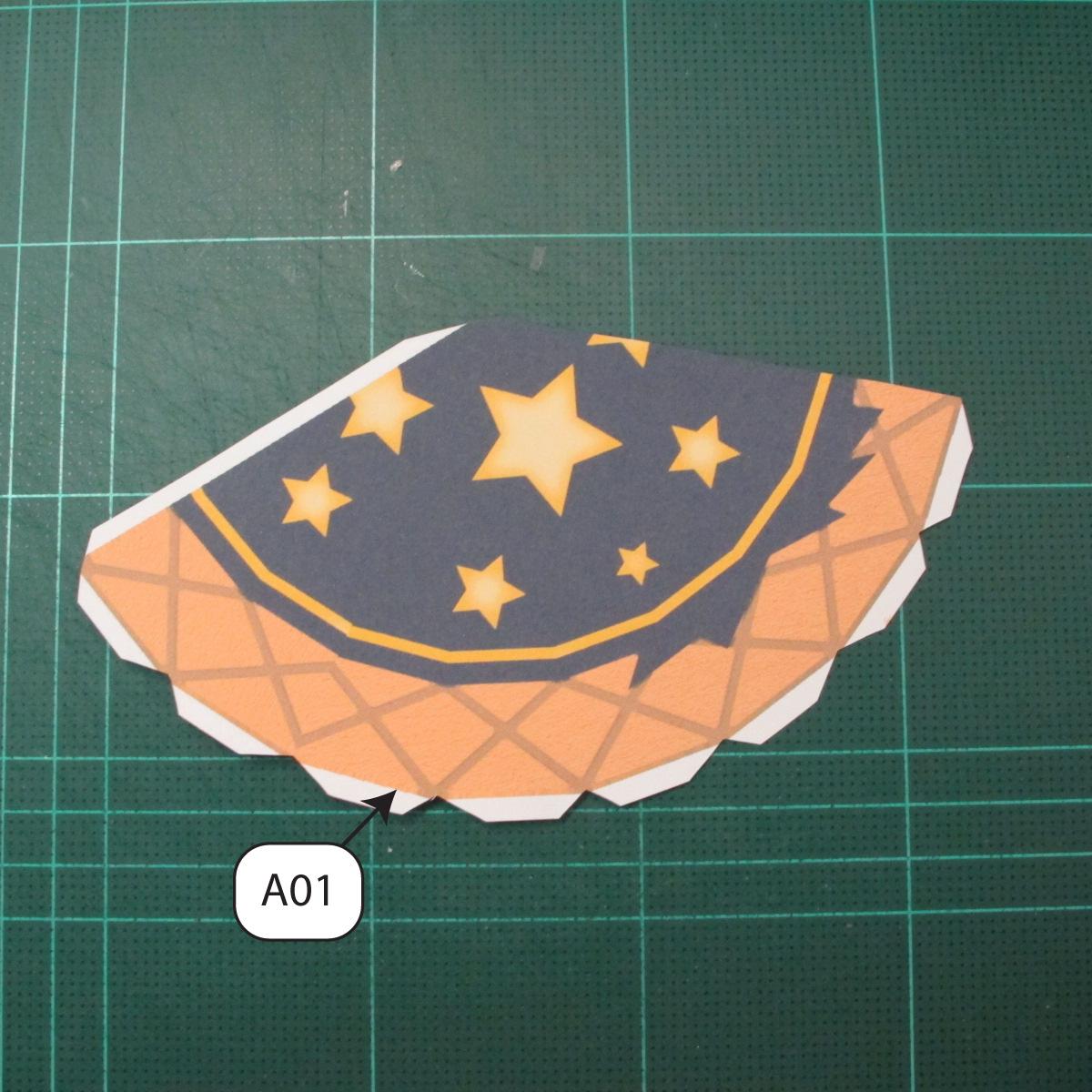 วิธีทำโมเดลกระดาษของเล่นคุกกี้รัน คุกกี้รสพ่อมด (Cookie Run Wizard Cookie Papercraft Model) 048