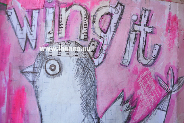 Art Journal Detail: Wing it drawing