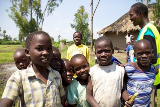 Kenyan children in a PMI-supported community