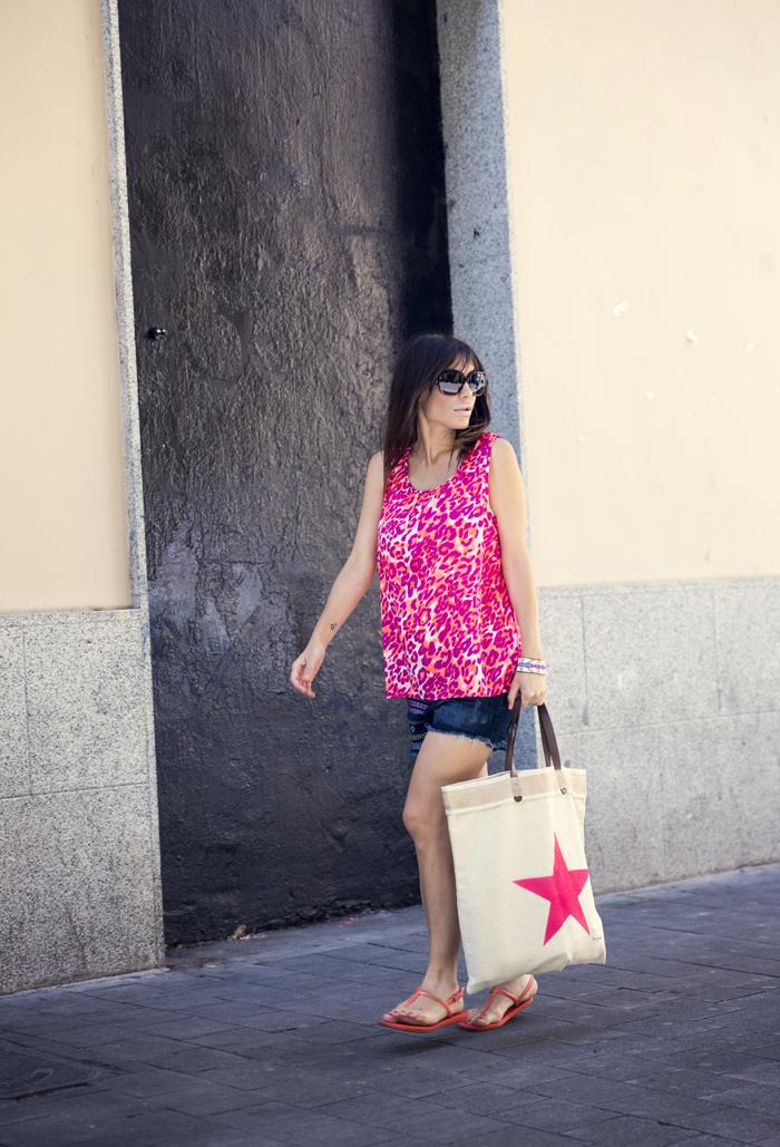 street style barbara crespo print summer top the corner shop fashion blogger outfit blog de moda