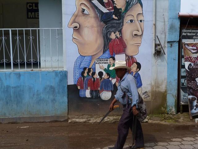 Graffiti en San Juan La Laguna (Lago Atitlán, Guatemala)