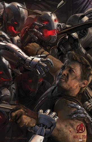 140728(2) - 2015年電影《Avengers: Age of Ultron》(復仇者聯盟2:奧創紀元)9大超級英雄合體海報出爐、台灣4/22隆重上映! 5