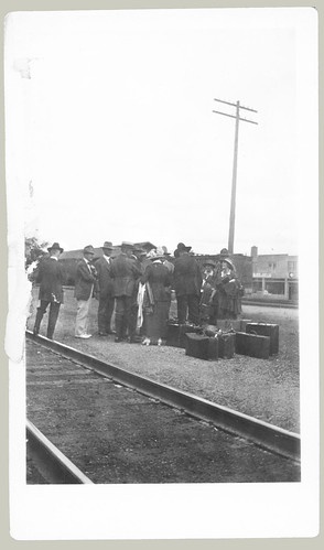 Group at railway