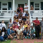 New and current Desousa Brent Scholars tour St. Clements Island during the Summer Bridge program