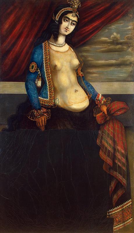 Woman Holding a Shawl بانویی با یک شال