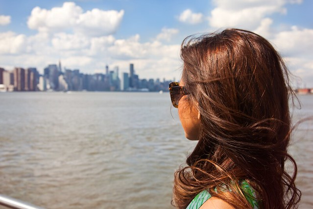 Manhattan skyline as seen from Brooklyn