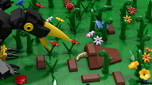 LEGO MOC - Bird catching grub